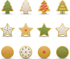 christmas sugar cookie clip art. Modren Art Christmas Cookie Icons With Sprinkles Vector Art Illustration Intended Sugar Cookie Clip Art C