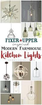 Fixer Upper Light Pendants Fixer Upper Inspired Modern Farmhouse Kitchen Lights