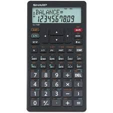 Financial Calculator Sharp Financial Calculator El 738f