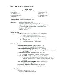 Education On A Resume Example Teacher Resume Samples Chemistry ...