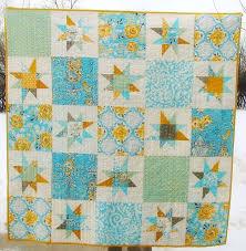 72 best wonky star quilt images on Pinterest | Star quilts, Stars ... & alternate stars with solid blocks - yellow/blue joel dewberry? Adamdwight.com