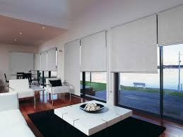 sliding glass door design with motorized window shades room darkening roller shades for modern window design