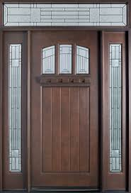mahogany front door. Craftsman Series Mahogany Solid Wood Front Entry Door - Single With 2 Sidelites GD- O