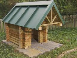Homemade Dog House Designs How To Build A Log Cabin Doghouse How Tos Diy
