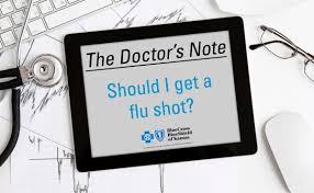 Doctors Note For The Flu Bcbsks Blog The Doctors Note Should I Get A Flu Shot