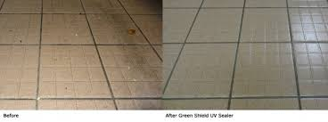 uv sealer revives ceramic tile flooring in fraser health commercial kitchen