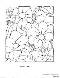 Free Large Flowers Coloring Pages For Older Kids Printable