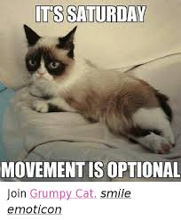 grumpy cat smiling is contagious. Perfect Contagious Cats Grumpy Cat And Smile ITS SATURDAY MOVEMENT IS OPTIONAL Join  Cat And Smiling Is Contagious L