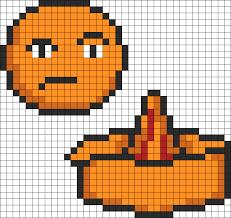 Unannoying Orange Is Not Amused Perler Bead Pattern Graph