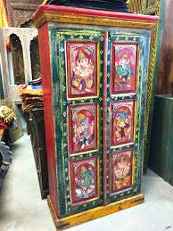 antique cabinet armoire ganesha painted rustic india furniture antique armoire furniture