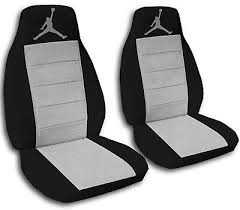 toyota seat covers black and silver