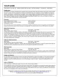 Example Of Job Description For Resume Child Care Job Duties Resume Krida 88
