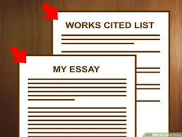 mla works cited writing  when citing an essay you include information in two places in the body of