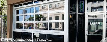 glass overhead doors commercial overhead full view glass garage door from in aluminum glass garage doors s