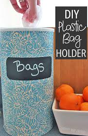easy diy plastic bag holder upcycle a container you probably have at home into a