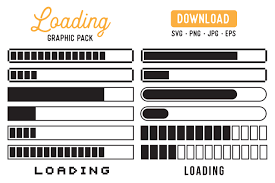 Download files and build them with your 3d printer, laser cutter, or cnc. Loading Bar Retro Vector Graphic Pack Graphic By The Gradient Fox Creative Fabrica