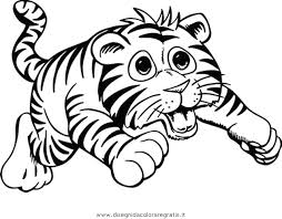Disegno Tigrotto 3 Animali Da Colorare Con Disegni Di Animali Da