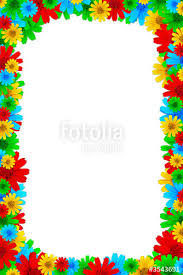 Small Picture Colorful floral design elements for page borders Stock photo and