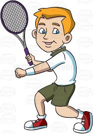 playing cartoon cartoon tennis player collection 83