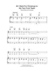 Download All I Want For Christmas Is My Two Front Teeth Sheet Music