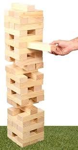 tower building game kangaroo giant pull n stack 54 sanded wood blocks outdoor 1866551537
