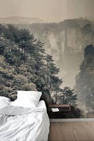 zones bedroom wallpaper: sea of trees forest mural wallpaper murals outdoors and bedroom feature walls