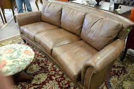 ferguson copeland furniture brown leather upholstered sofa marked ltd ferguson copeland dining chairs