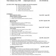 Sample Resume For Sales Executive In Telecom Resume R Rs Geer