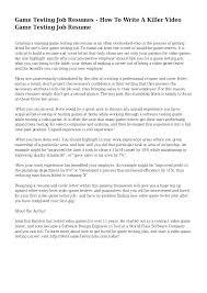 Entry Level Job Resume Tips Jobs Tester Games Cover Letter Software