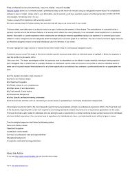 Text Resume Format Awesome 4848 Plain Text Resume Generator Symbiosisartscienceorg