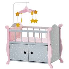 Olivia s Little World Baby Doll Furniture Nursery Crib Bed in Gray