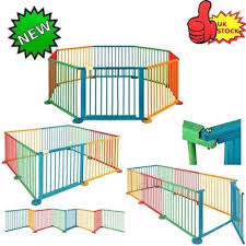 8 panel large foldable baby kids child playpen play pen room divider fence toy for