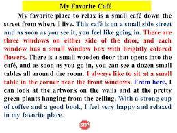 descriptive paragraph ppt video online 13 my favorite cafatildecopy my favorite place