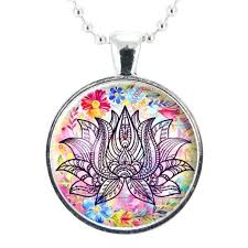 lotus flower necklace yoga love pendant gifts for teacher pendants whole lotus flower pendant
