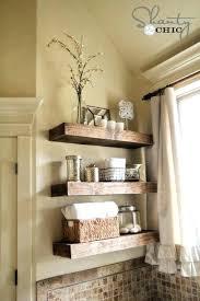 rustic bathroom wall shelves wooden