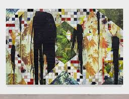 rashid johnson untitled escape collage 2016 white ceramic tile black soap