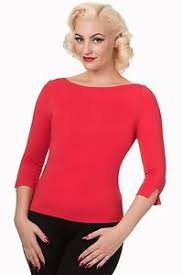 Image is loading Banned-50s-Rockabilly-Boat-Neck-Retro-039-Modern-