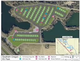 southern oregon rv park map