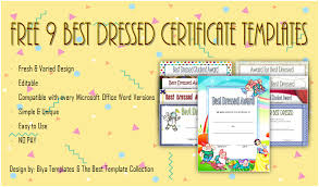 Free Editable Certificate Templates For Word Adorable Best Dressed Certificate Templates Word Biya Templates