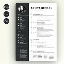 Unique Resume Impressive Resume Template Creative Templates Word Format Baycabling