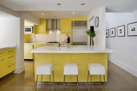 Light Yellow Kitchen Glass Kitchen Cabinet Green Kitchen Ideas Orange Chair White