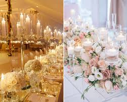 candles and candelabra centrepieces