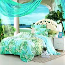 palm tree duvet covers blue green turquoise bedding sets queen ki on hawaiian print bed sheets