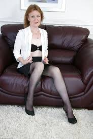 Naked Mature Stockings Anal Clare Cream Picture 3