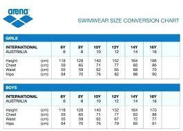 Swimsuit Sizes Raisins Size Chart Nike Coreyconner