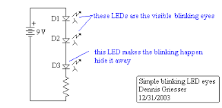 blinking led circuit diagram the wiring diagram making led creature eyes circuit diagram