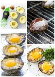 grilled avocado and eggs the cozy cook
