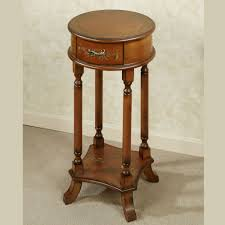 trellis round accent table trellis accent table regal walnut touch to zoom
