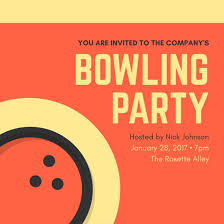 Work Happy Hour Invite Wording Customize 95 Bowling Invitation Templates Online Canva