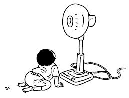 子どもの成長や子育ての喜びを感じた瞬間イラスト扇風機 By